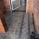 diamond border block paving in Sheffield