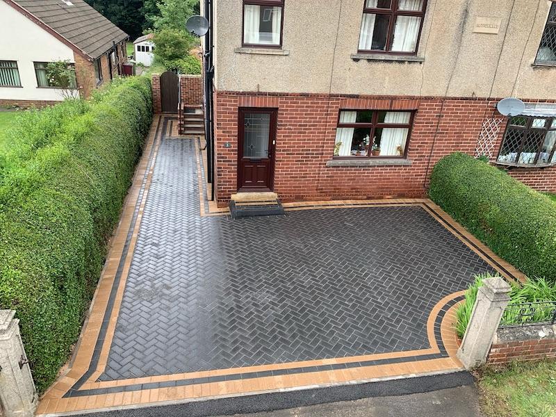 block paving driveway charcoal