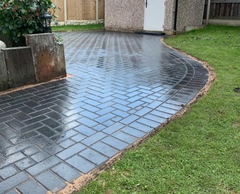 block paving project in Dinnington