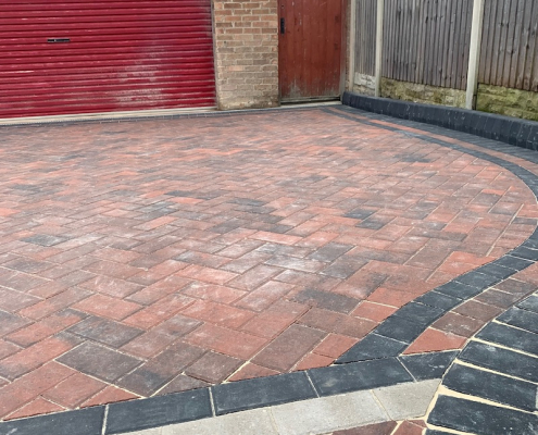 large driveway completed in Mansfield