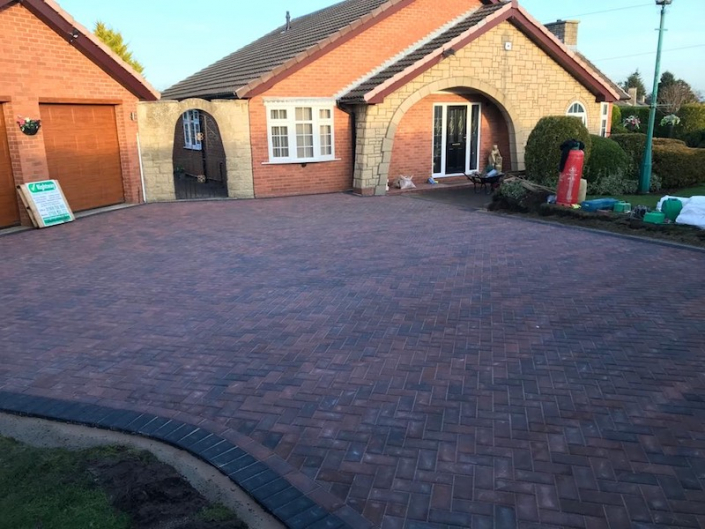 block paving completed in Worksop