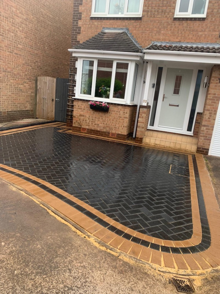 Block Paving with Double Border Driveway Sheffield